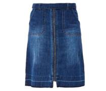 Lässiger Jeansrock mit Zipper blau