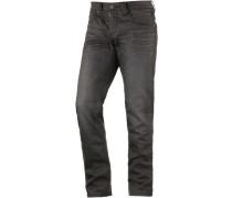 EduardoTZ Slim Fit Jeans Herren grau