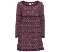 Kleid Gestricktes Woll- purpur