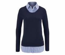 2-in-1-Pullover blau / marine / naturweiß