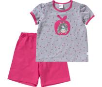 Schlafanzug grau / pink