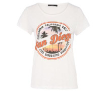 T-Shirt 'san Diego' weiß