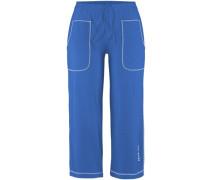 Capri-Hose blau