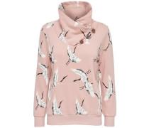 Print-Sweatshirt altrosa / weiß