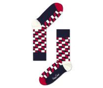 Socke 'filled Optic' navy / rot / weiß