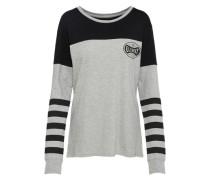 Shirt 'lucky' grau / schwarz