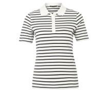 Weites Polo-Shirt weiß