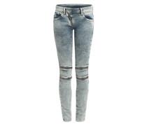 Skinny Jeans 'Lynn Custom Mid Skinny' blau