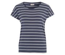 T-Shirt 'Vmcharly' dunkelblau / weiß