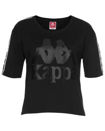 T-Shirt 'Elin' greige / schwarz / weiß