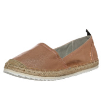 Espadrilles im Metallic-Look bronze