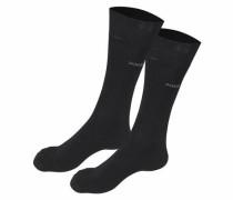 Socken (2 Paar) mit druckfreien Nähten schwarz