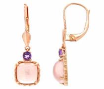 jewels Paar Ohrhänger rosegold / dunkellila / rosa