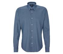 Gemustertes Hemd blau