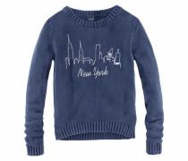Pullover mit Frontdruck für Mädchen blau