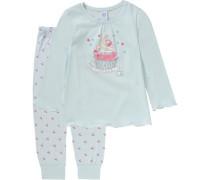 Schlafanzug für Mädchen hellblau / mint