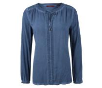 Tunika-Bluse in Garment-Dye himmelblau