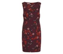 Ärmelloses Kleid mit tollem Print rosa / weinrot