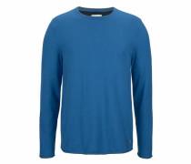 Rundhalspullover blau