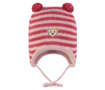 Strickmütze Mädchen Baby pink
