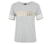 T-Shirt 'Cute Christmas' gold / grau