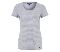 T-Shirt mit Streifen-Dessin blau