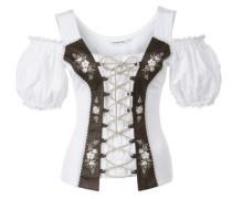 Shirt Nella braun / weiß
