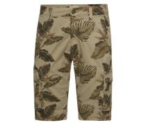 Shorts 'Long palm print cargo shorts' sand / hellbraun / khaki / oliv