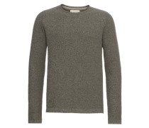 Pullover 'knit Structure' oliv