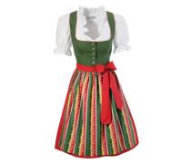 Dirndl kurz mit Bluse '' (3tlg.) grün / rot