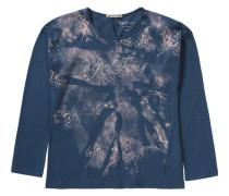 Langarmshirt Cathy für Mädchen dunkelblau / altrosa