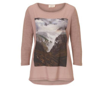 Shirt mit 3/4 Arm dunkelgrau / rosé
