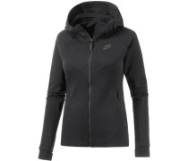 Kapuzenjacke Tech Fleece schwarz
