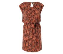 Midi-Kleid 'Joelle' orange / schwarz