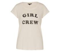 Shirt mit Print grau
