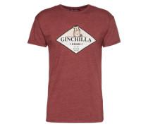 Shirt 'Ginchilla' weinrot / weiß