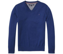 Pullover 'ame Tommy VN Sweater L/s' blau