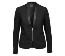 Kurzer Tuxedo mit Satinbesätzen schwarz