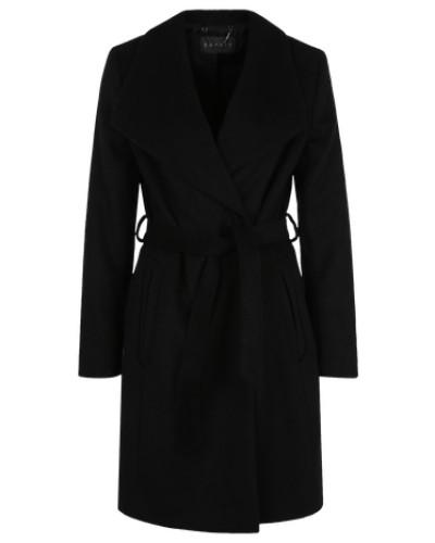 Wintermantel aus Wolle schwarz