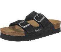 Oban Blim Komfort-Pantoletten schwarz