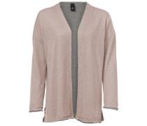 Cardigan grau / rosa