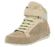 Sneakers camel / gold