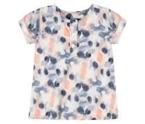 Kleid 1/4 Armlänge mit Print Mädchen Baby creme / blau / rosa
