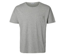 Rundausschnitt T-Shirt grau