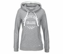 Denim Kapuzensweatshirt grau / weiß