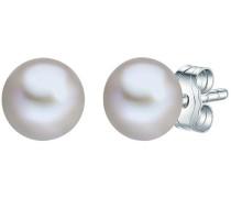 Perlenohrstecker mit Süßwasser-Zuchtperle silber