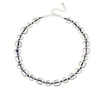 Halskette mit ausgefallenen modischen Elementen silber