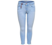 Regular fit Jeans 'Carmen reg crop zip' hellblau