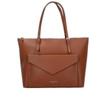 Pur Smooth Shopper Tasche Leder 35 cm braun