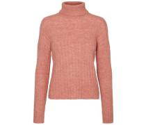 Pullover Rollkragen- lachs / rosa